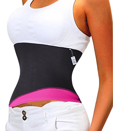 Hot Thermo Sweat Neoprene Shapers Slimming Belt Waist Cincher Girdle Gotoly (3XL Fits 39-40 Inch Waistline, Rose)