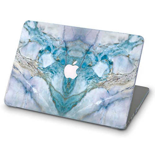Price comparison product image OhioCases Full Cover Hard Shell Case for Apple Macbook Pro Retina 15.4 Model Numbers A1398 (2013-2015) with Retina Display,  without CD-ROM,  DOES NOT fit Pro 15 2016 (Blue Mineral Marble)