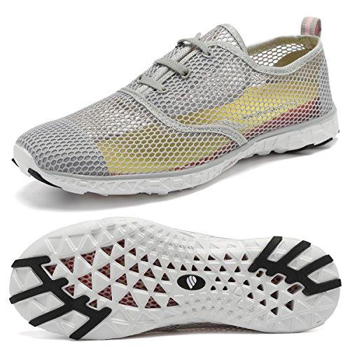 Dry Shoes Men Womens 18 Walking Quick Wading Sports Beach Holes Yoga Fanture Gray02a Drainage rlsm Swim Aqua Water Drainage XA1g1x