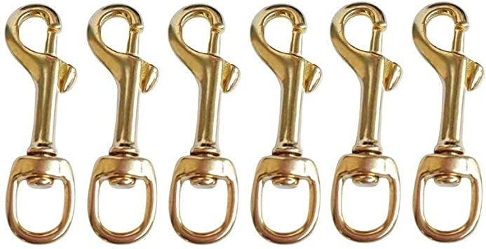 Boat Solid Brass Swivel Eye Bolt Snap Hooks Size #1