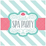BirthdayExpress Little Spa Salon Makeover Party Supplies - Lunch Napkins (20)