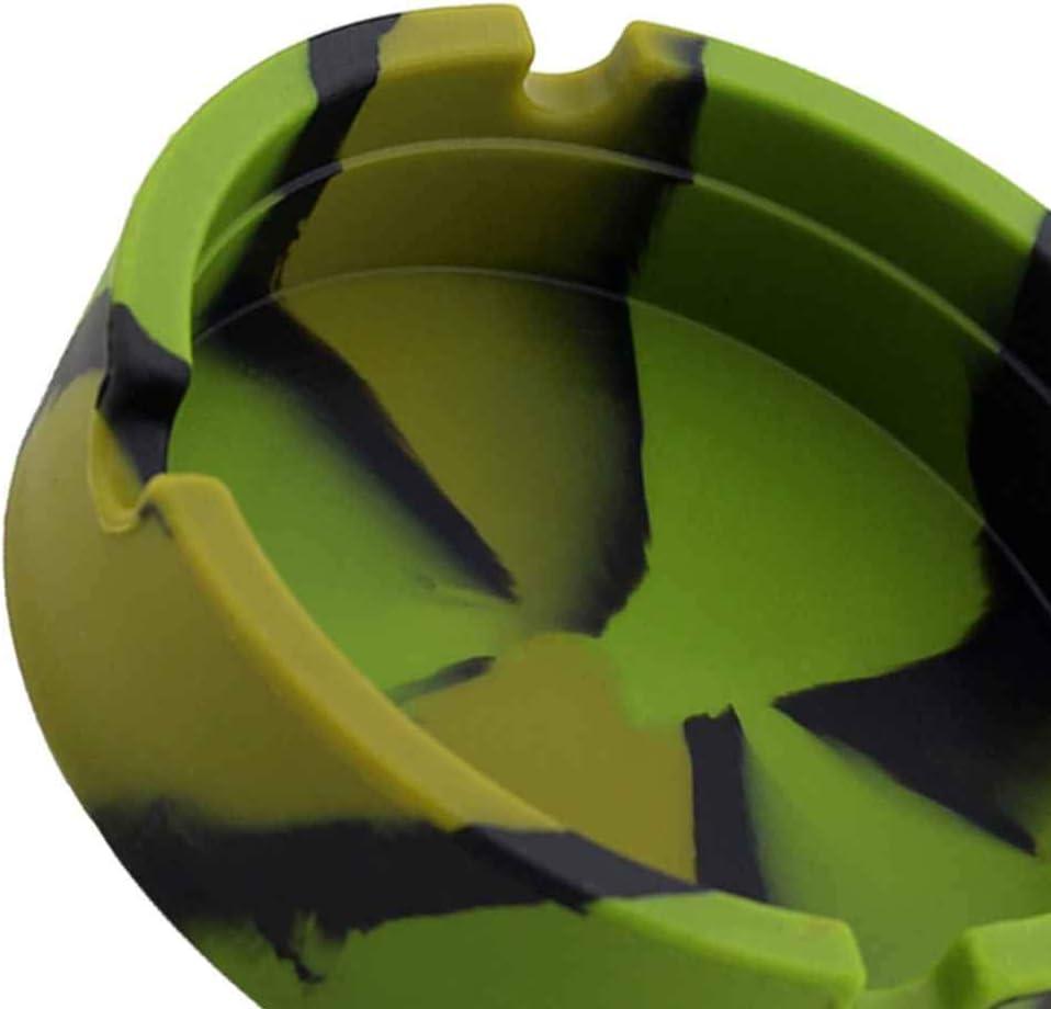 Uzinb Camouflage Luminoso Posacenere Gomma di Silicone ad Alta Temperatura Resistente al Calore Escursioni Autonoleggio Rotonda Ash Tray bocchino
