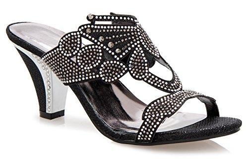 black slides heels - 4