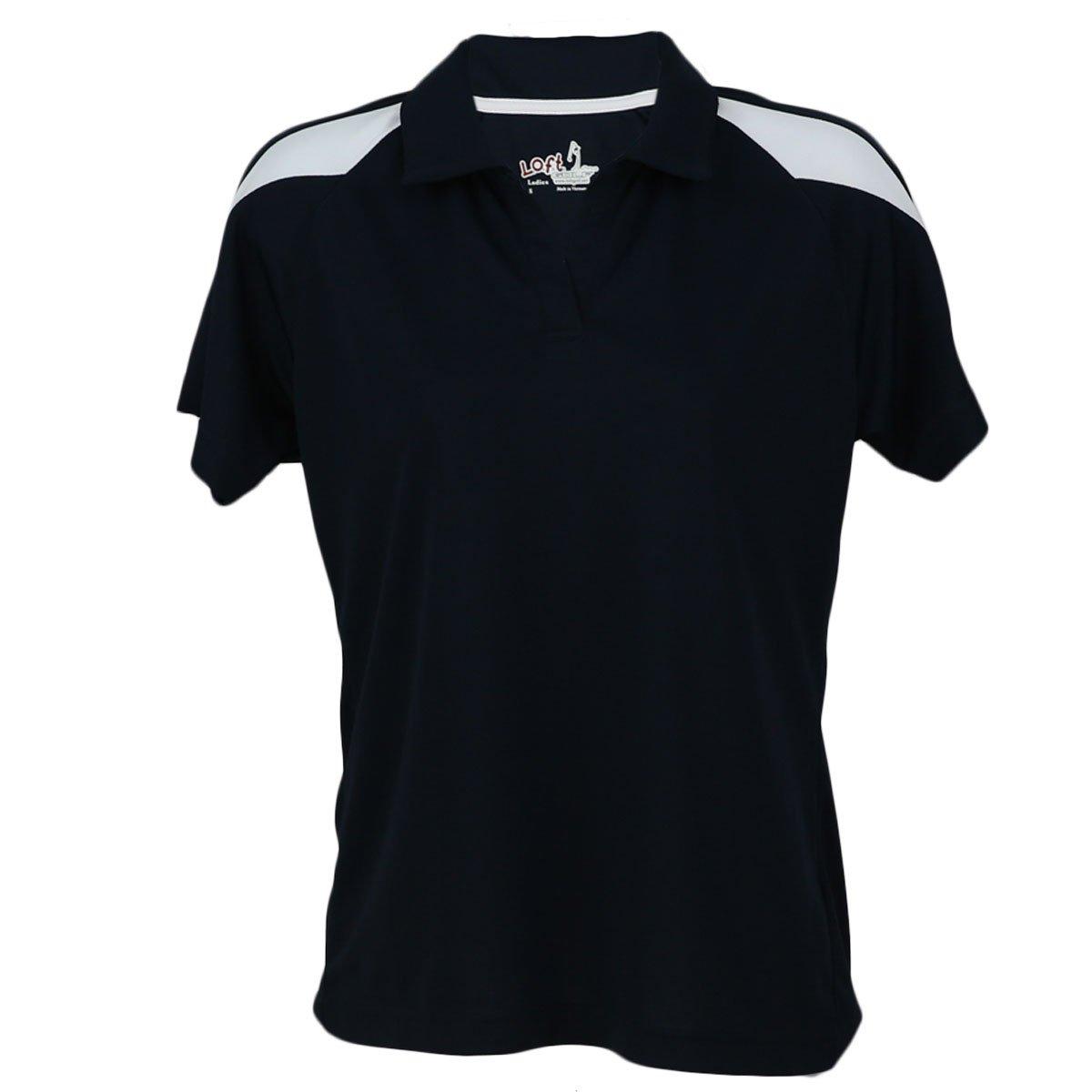 レディースポロシャツby l.o.f.t.ゴルフ – 快適、ソフト、吸湿発散性シャツ Medium ネイビー/ホワイト B013LSHCXK