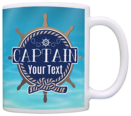 Captain Mug - Custom Boating Gifts Captain Your Name Personalized Nautical Gift Coffee Mug Tea Cup Ocean