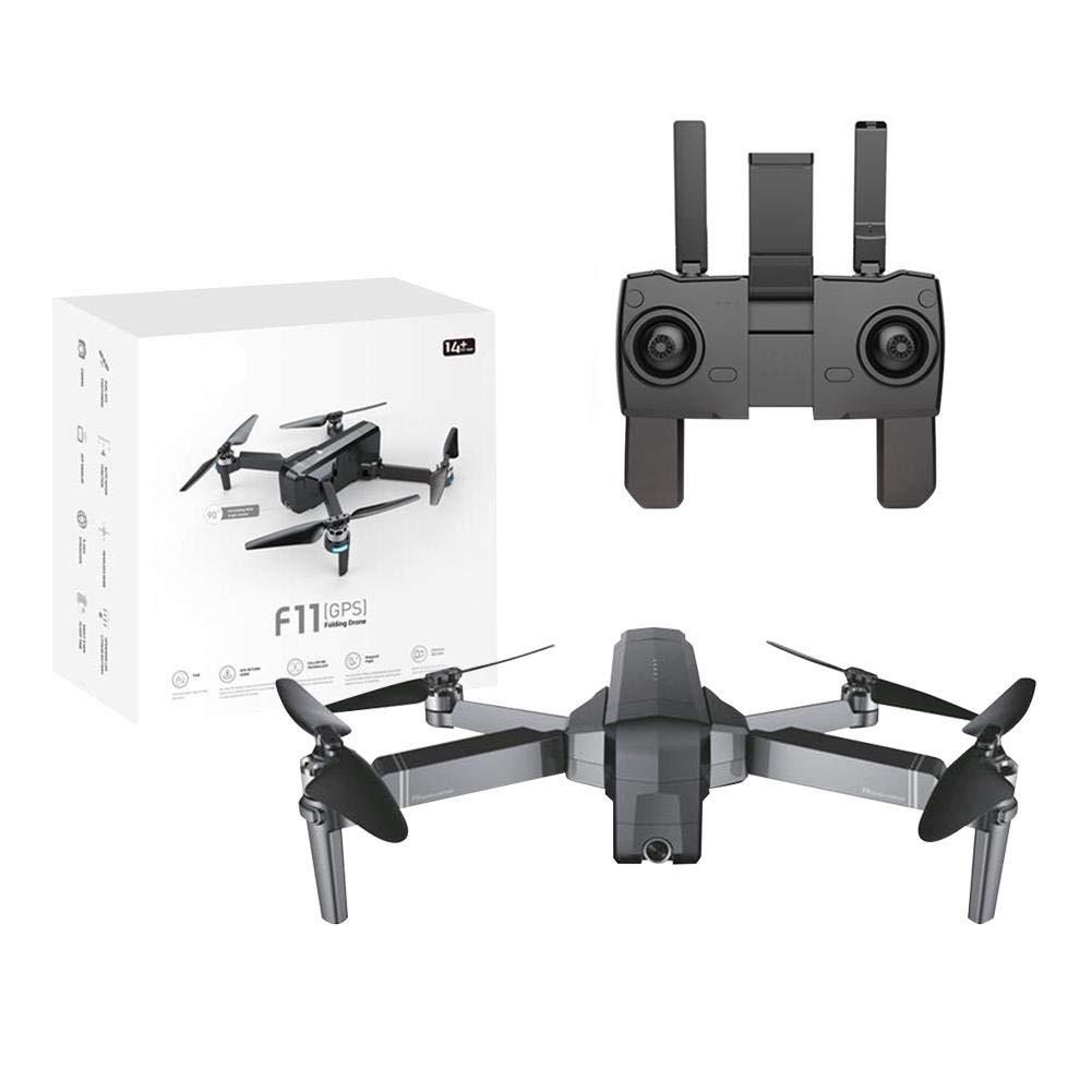Waroomss Drones de fotografía, Aviones no tripulados F11, Aviones Plegables sin escobillas, GPS 1080P HD Fotografía aérea Drone