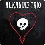 Alkaline Trio – Skull Heart Flag Fabric Poster 46 x 46in
