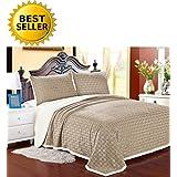 Elegant Comfort Sherpa Blanket On Amazon Best Seller Micro-Sherpa Ultra Plush Blanket, King, Beige