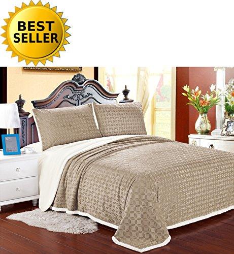 Elegant Comfort Luxury Sherpa Blanket on Amazon Micro-Sherpa Ultra Plush Blanket, Full/Queen, ()