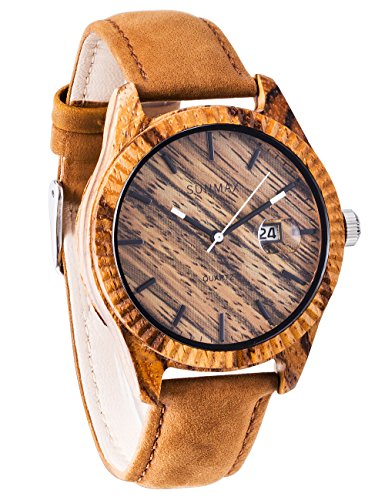 SUNMAX Wooden Wrist Watches for Men