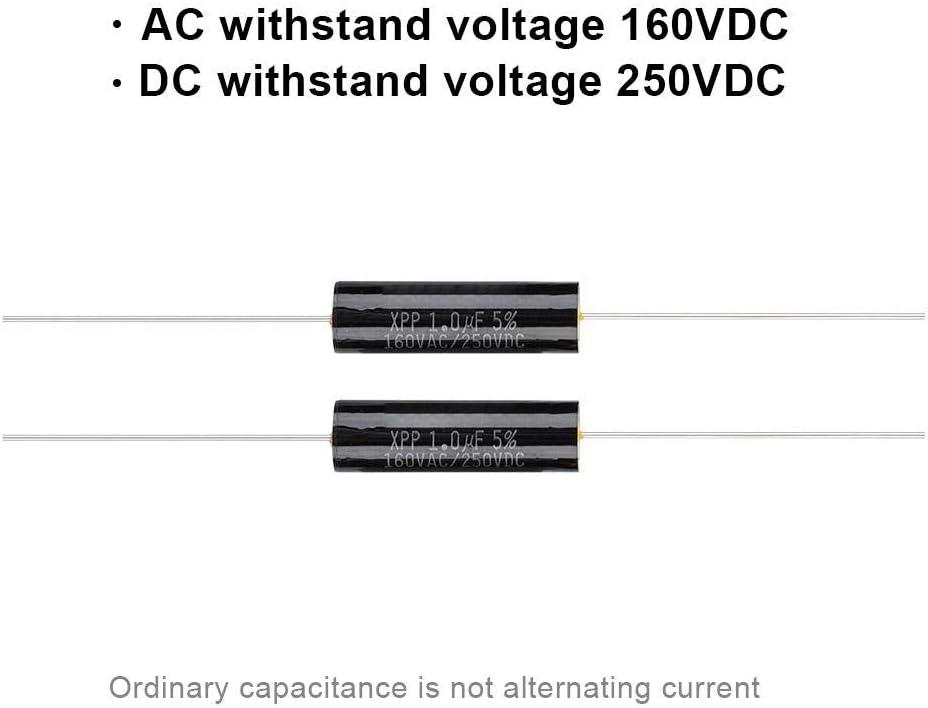 uF pour Le diviseur Audio 3.3 2.2uF Lazmin Diviseur de fr/équence de condensateur 2Pcs 2.2uf condensateur de Film de CC 250V 1uF