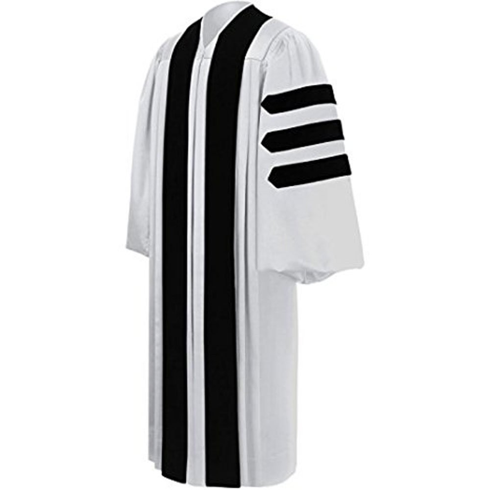 White Pastor / Clergy Robe – Deluxe Fluted Fabric Clergy Robes For Pastor, All Sizes