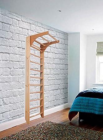 Barras de pared de madera para interiores KM-01-220 Wooden Escalera sueca: Amazon.es: Deportes y aire libre