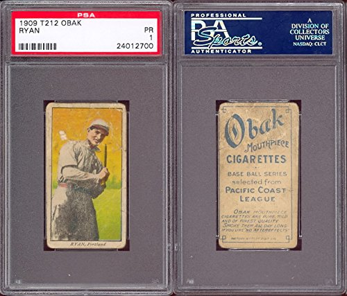 1909 obak (T212) Regular (Baseball) Card# 63 ryan of the portland Fair Condition