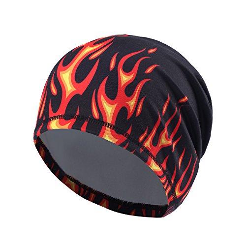 UHEREBUY Running Beanie Cap/Fleece Hat/Winter Skull Cap - Cold Weather Motorcycle Chemo Cap