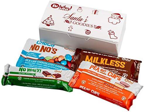 No Whey Chocolate leche, sin frutos secos, libre de gluten, libre de soja, vegano - caja de navidad dulces de chocolate de santa: Amazon.es: Alimentación y bebidas