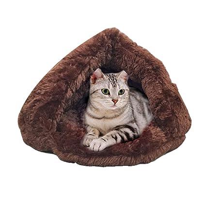 JEELINBORE Caliente Saco de Dormir Perro Suave Acogedor Bolsas Cama Perrera para Perros y Gatos (