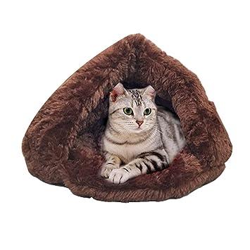JEELINBORE Caliente Saco de Dormir Perro Suave Acogedor Bolsas Cama Perrera para Perros y Gatos (S: 42 * 45 * 30CM, Café): Amazon.es: Hogar
