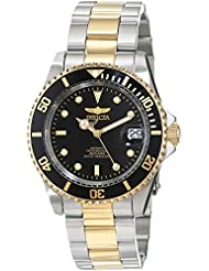 Invicta Mens 8927OB Pro Diver 18k Gold Ion-Plated and Stainless Steel Watch