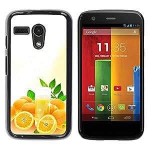 Paccase / SLIM PC / Aliminium Casa Carcasa Funda Case Cover - Fruit Macro Oranges - Motorola Moto G 1 1ST Gen I X1032