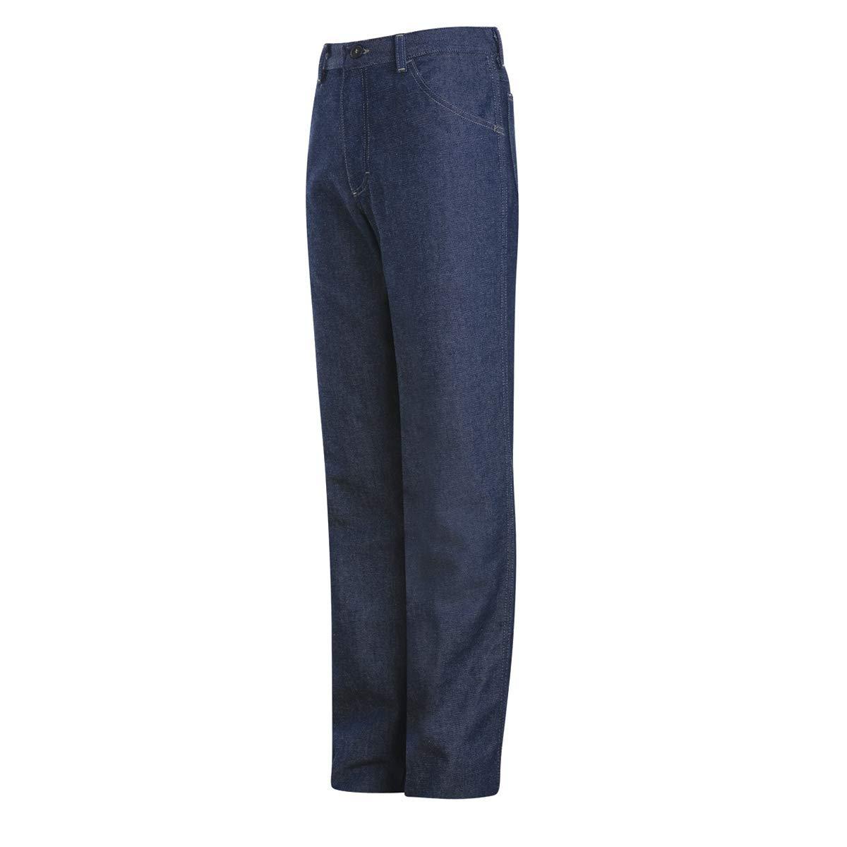 Bulwark 50 X 32 Dark Denim Cotton Denim Excel FR Flame Resistant Denim Jeans With Button Closure