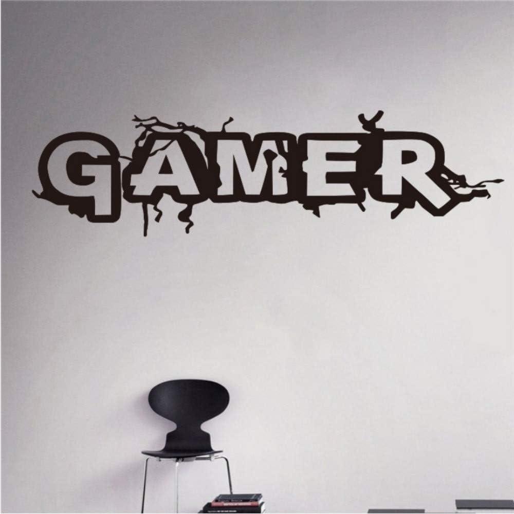 Joueur Mur Room Decor Art Vinyle Autocollant Mural Decal Gamer Word Game D/écor /À La Maison Enfants Chambre Stickers Muraux Pour Nursery 30x108 cm