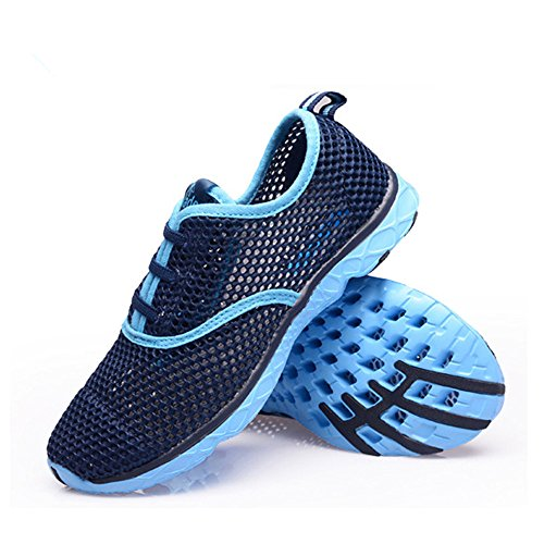 Mixsnow Womens Quick Dry Aqua Water Shoes Blu