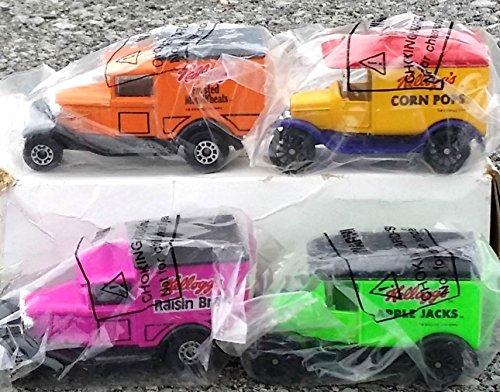 matchbox-kelloggs-cereal-delivery-truck-4pc-set-mail-away-exclusive-corn-pops-raisin-bran-mini-wheat