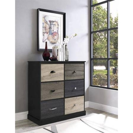 Altra Furniture Blackburn 6-Cube Storage Unit, Black