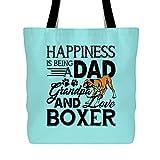 Best love Dad Grandpas - Dad Grandpa Love Boxer Dog Womens Handbag, Cool Review