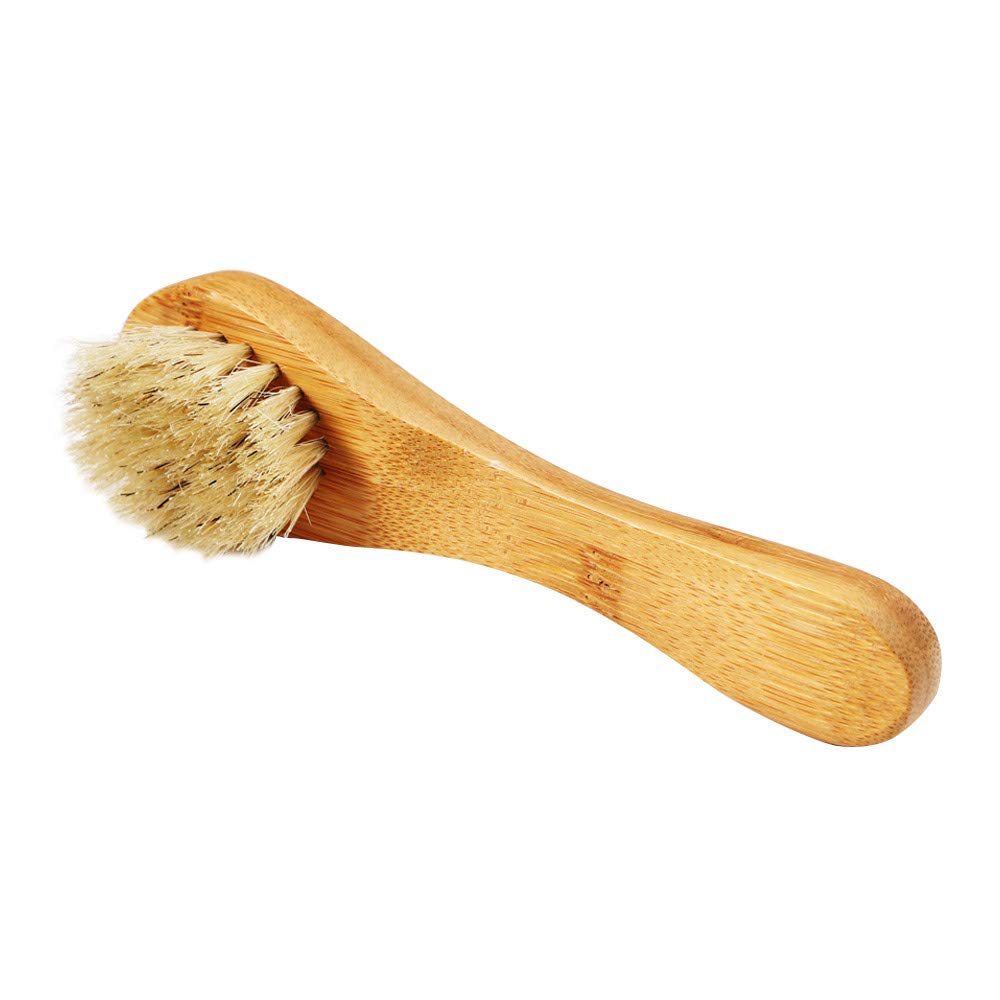 LiPing Pro Bamboo Facial Cleansing Brush Face Care Massager Scrubber For Sensitive, Delicate, Dry Skin. (A)