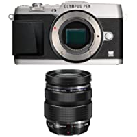 Olympus E-P5 Body Only (Silver with Black Trim) with 12-40mm Lens