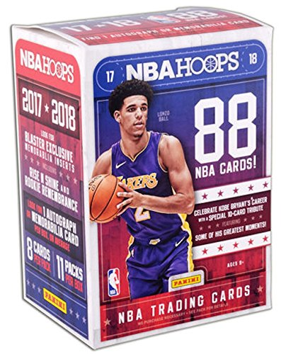 2017/18 Panini Hoops NBA Basketball BLASTER box (11 pk + ONE Memorabilia or Autograph card)