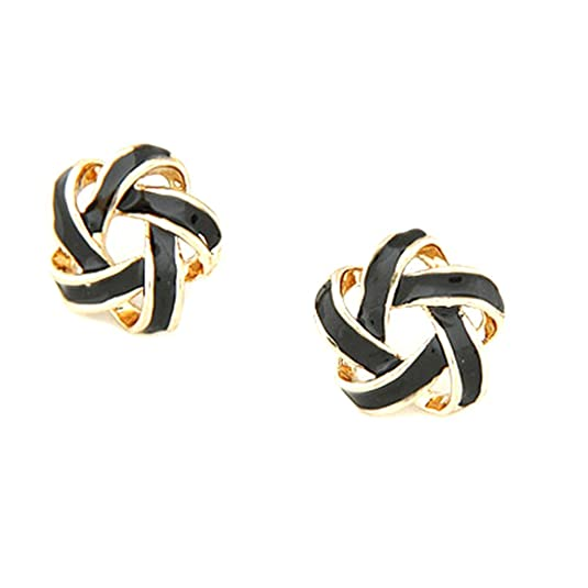 Young & Forever valentine gifts special Every Day Essentials Intertwining Color Pops Knotted Stud Earrings daily wear earrings for girls / women Earrings at amazon