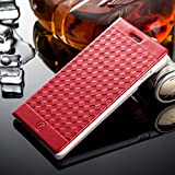 iPhone 6s Plus Wallet Case,iPhone 6/6s Plus Flip Leather Case,ACO-UINT Premium Retro Decorative Woven PU Leather Wallet Case with Card Slots,Ultra Slim Folio Book Cover Case for iPhone 6/6s Plus 5.5[Red]