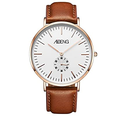 Men's Wrist Watch Analog Quartz with Rosegold Steel Mesh Band Stainless Steel Case 40mm ,Waterproof Watches from Kaiyuan Watch