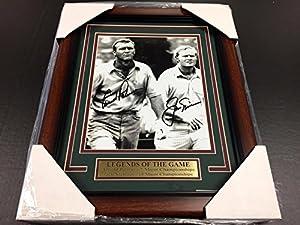 Reprint Arnold Palmer Jack Nicklaus Autographed Reprint Golf 8x10 Photo Framed - Autographed Golf Photos