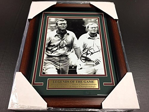 Reprint Arnold Palmer Jack Nicklaus Autographed Reprint Golf 8x10 Photo Framed - Autographed Golf ()