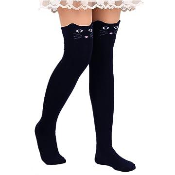 8148991f019 Cat socks knee high - Women Cute 3d Cartoon Animal Pattern Thigh Stockings  Over Knee High