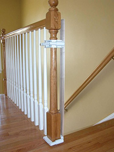 No Hole Stairway Baby Gate Mounting Kit By Safety Innovations (Stair Kit)