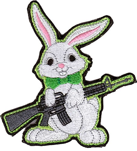 Evil Easter Bunny AR-15 Tactical Morale Patch - Color