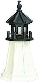 product image for DutchCrafters Decorative Lighthouse - Wood, Cape Cod Style (White/Black, 2)