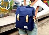 Bolso de hombro de la versión coreana de los estudiantes universitarios de viento mochila bolsa de lona del hombro bolso de la computadora (Blue)
