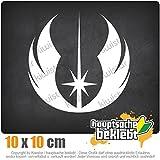 Jedi Orden 10 x 10 cm IN 15 FARBEN - Neon + Chrom! Sticker Aufkleber