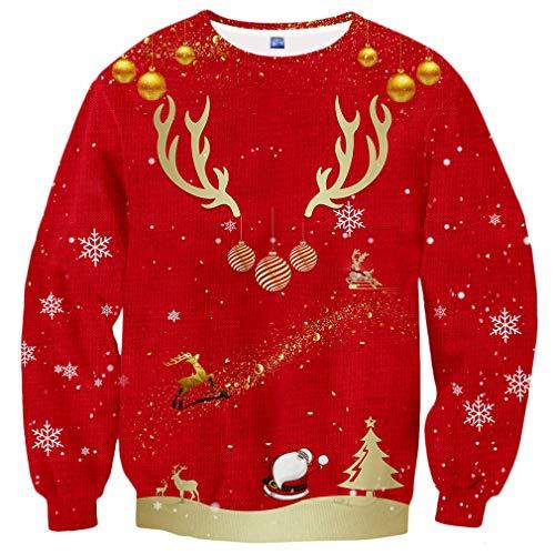 Hgvoetty Christmas Ugly Sweatshirts for Teens 3D Print