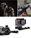 PULUZ Cantilever Picatinny Weaver Gun Rail Side Mount for GoPro HERO6/5/4/3+/3/2/1/Session/Session5/4 and Orther Action Cameras