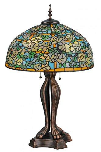Meyda Tiffany 139419 Tiffany Laburnum Trellis Table Lamp,...