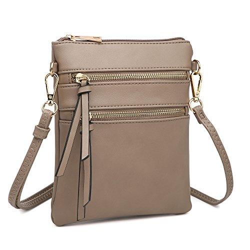 Functional Crossbody Bag Messenger Multi Pockets Stone Lightweight Zipper Bag Mini 4UwxXqvStx