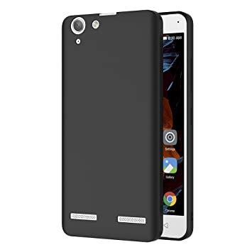 Funda Lenovo K5, AICEK Negro Silicona Fundas para Lenovo K5 Carcasa Lenovo K5 Negro Silicona Funda Case
