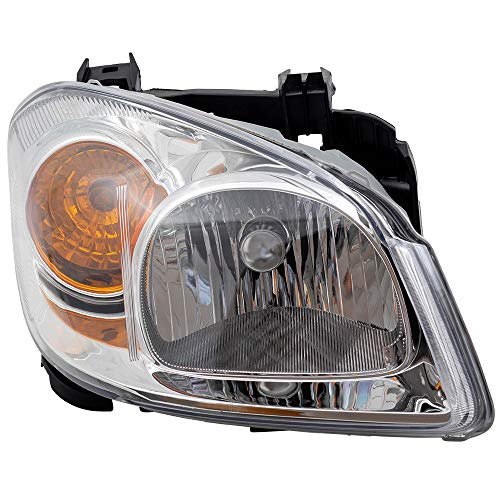 - Passengers Headlight Headlamp Clear Lens with Amber Signal Reflector & Bracket Replacement for Chevrolet Pontiac 22740620